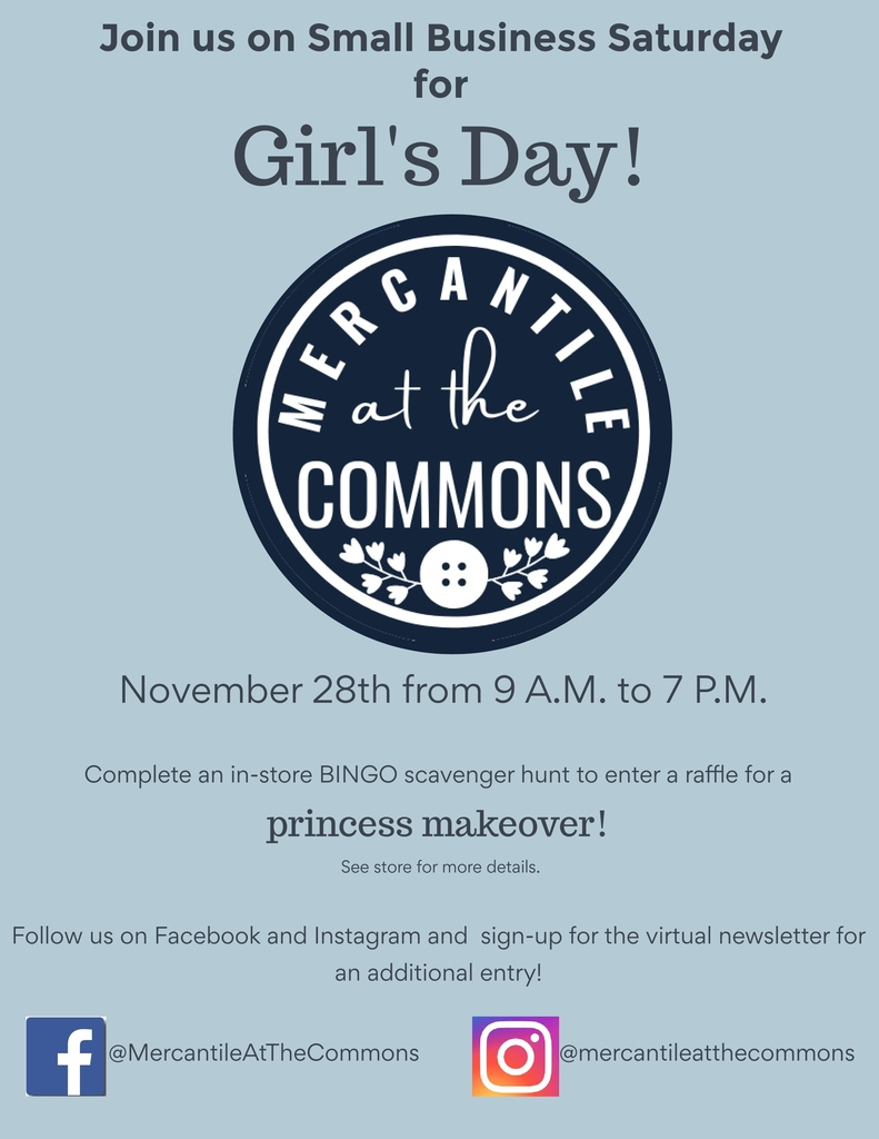Small business girl's day bingo flyer