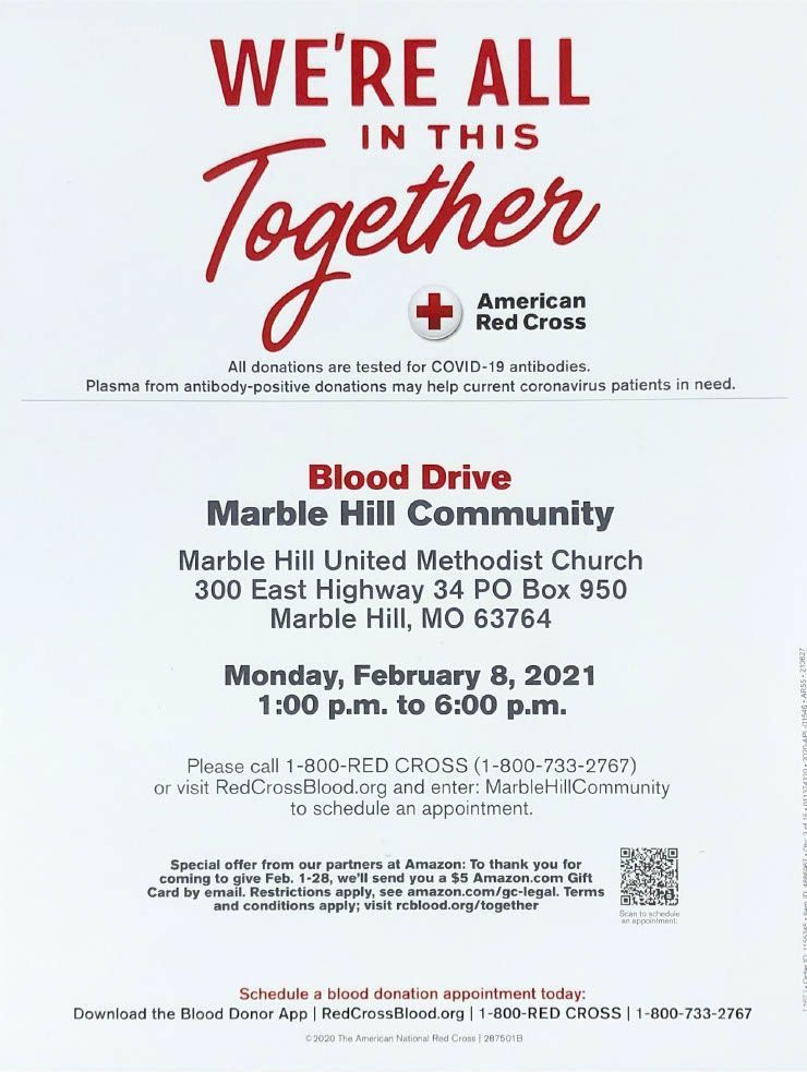 Marble Hill Blood Drive Information